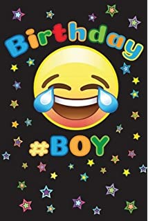 Birthday Boy Silly Emoji Happy Year Journal Funny