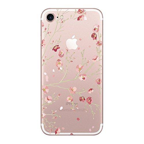 2b0e7ecfd84 Vanki® iPhone 7 Funda, Carcasa Serie volar Sakura iPhone 7 Case Cover  Silicona Suave