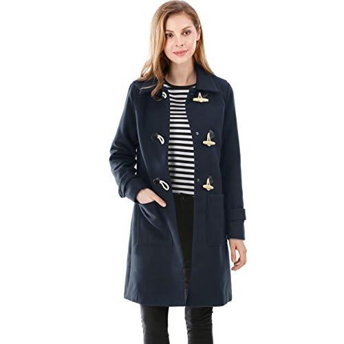 Allegra K Women's Pockets Front Toggle Coat supplier