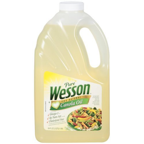 Wesson Pure 100% Natural Canola Oil, 64 oz
