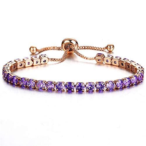 Zirconia Tennis Bracelet & Bangle Adjustable Pulseras Mujer Charm Bracelet for Women Bridal Wedding Jewelry