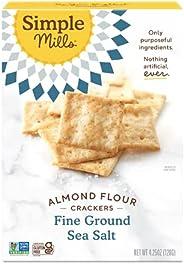 Simple Mills Almond Flour Crackers, Fine Ground Sea Salt, Gluten Free, Flax Seed, Sunflower Seeds, Corn Free,