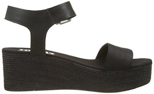 Sandaler Kvinners Svart svart Flatform Tommy Sporty Jeans Denim 990 wSWffRXq