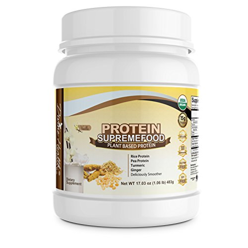 Divine Health Protein Supremefood Plus Turmeric & Ginger, Vanilla Flavor 483g