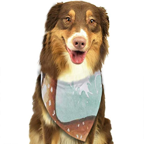 HJudge Dog Bandana Painting of Deer in Forest Dog Scarf Marvellous Puppy Accessories