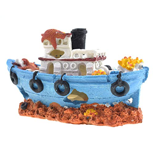 Aquarium Fish Tank Depot Boat Decorating, Non-Toxic Durable Shelf Ship Deodor of -
