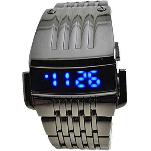 Reloj Inteligente Hombre Deporte, Harpily Negocios para Hombres de Acero Inoxidable para Hombre Azul LED