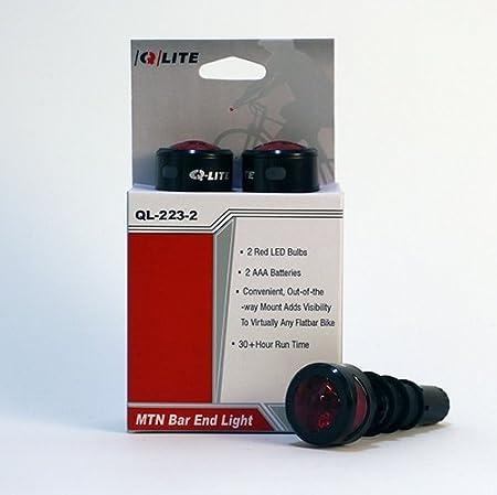 Q-LITE QL-223-2 MTB Mountain Bike Bicycle Cycling Handlebar Bar End LED Light