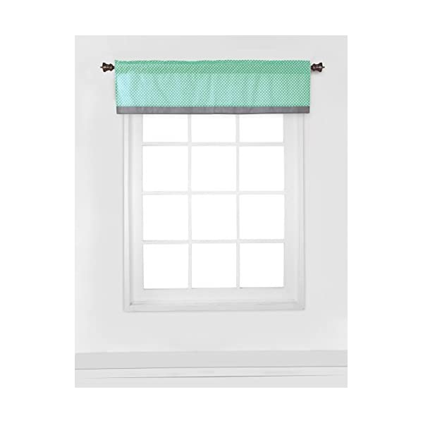 Bacati Elephants Unisex Window Valance, Mint/Yellow/Grey