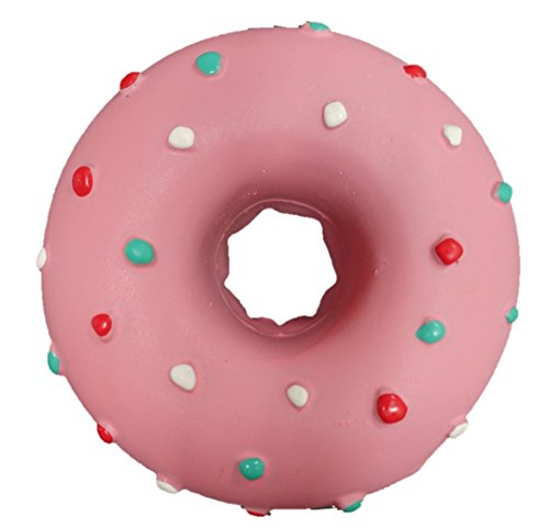 Latex donut dog toy (pink) ()