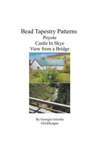 Bead Tapestry patterns Peyote castle in skye view from a bridge