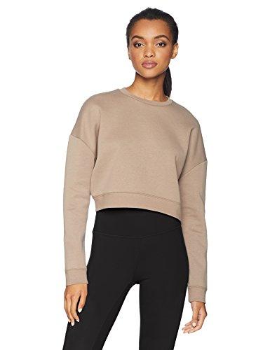 - Core 10 Women's  Motion Tech Fleece Cropped Sweatshirt, Taupe, M (8-10)