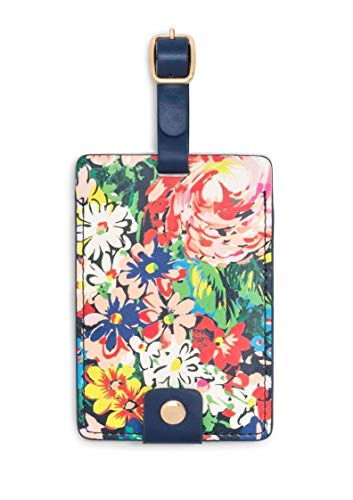 - Ban.do Women's Getaway Leatherette Floral Luggage Tag with Strap, Flower Shop