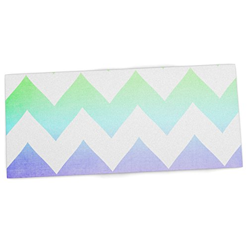 "Price comparison product image KESS InHouse Catherine McDonald ""Water Color"" Chevron Office Desk Mat, Blotter, Pad, Mousepad, 13 x 22-Inches"