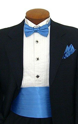 Bow And Tie Formal 15 Hanky Set Tuxedo Men's Blue Cummerbund CBUND FnXcaqZqw