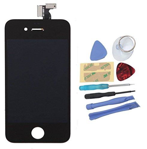Mimi® Touchscreen Replacement for Black Apple iPhone 4 CDMA Verizon Sprint Model A1349 Touch Screen Digitizer and LCD Display Assembly + Tool Kit (Verizon Screen Touch)