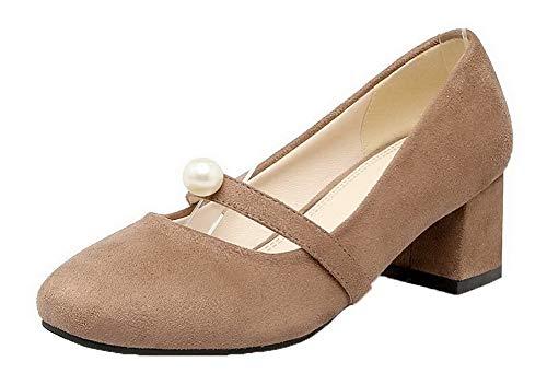 Gmbdb010786 Correct À Femme Dépolissement Agoolar Unie Légeres Couleur Chaussures Kaki Talon qzTwTI