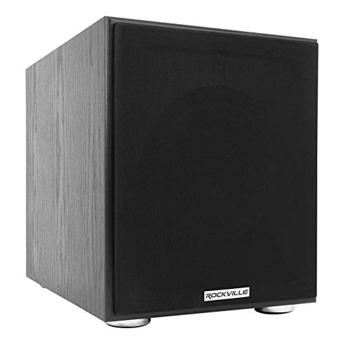 Rockville Rock Shaker 8″ Inch Black 400w Powered Home Theater Subwoofer Sub