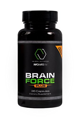 Brain Force Plus Nootropic Supplement  36 Capsules    Extra Strength Formula To Boost Memory  Focus  Energy   Clarity