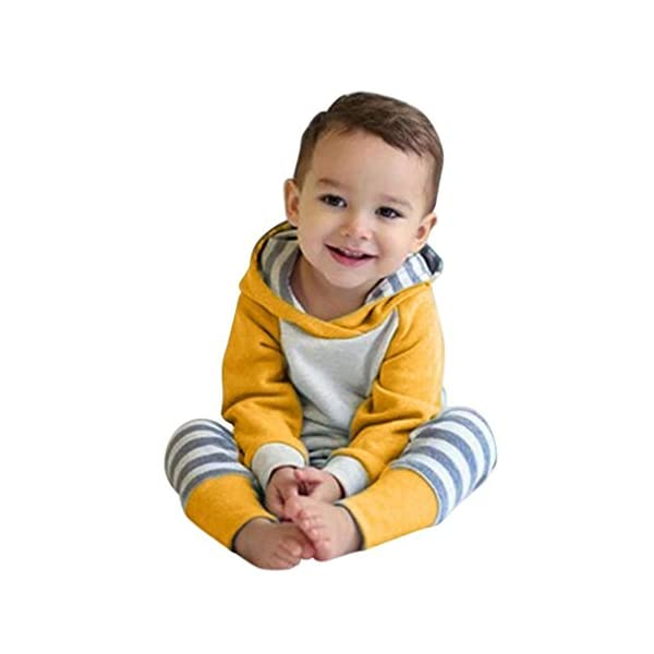 Kerrian Online Fashions 41VikaS6f3L Baby Boys Girls Clothes Long Sleeve Hoodie Tops Sweatsuit Long Pants Outfit Set
