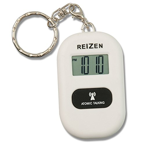 Reizen Talking Atomic Watch Keychain - White