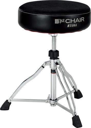 (Tama 1st Chair Round Rider Drum Throne Cloth top Black )