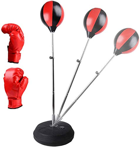 Punching Bag Adjustable Height Boxing Bag Speed Punching Bags,Reflex Bag Free Standing for Adults & Kids