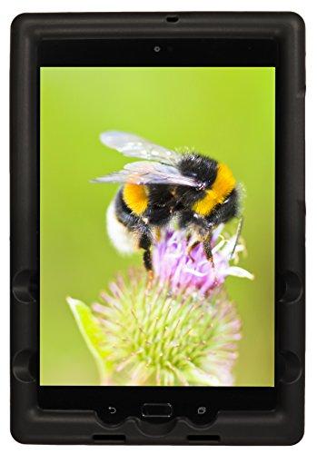 Bobj Rugged Case for ASUS ZenPad Z8S, P00J - BobjGear Custom Fit - Patented Venting - Sound Amplification - BobjBounces Kid Friendly (Bold Black)