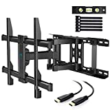 """TV Wall Mount Full Motion Fits 16"""", 18"""", 24"""" Wood Studs, Articulating Swivel"""