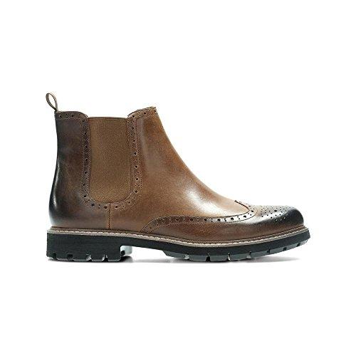 Clarks Herren Batcombe Top Chelsea Boots Braun (Dark Tan Lea ----)