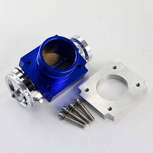 "2.75/"" UNIVERSAL 70MM PERFORMANCE HIGH FLOW THROTTLE BODY INTAKE MANIFOLD BLUE"