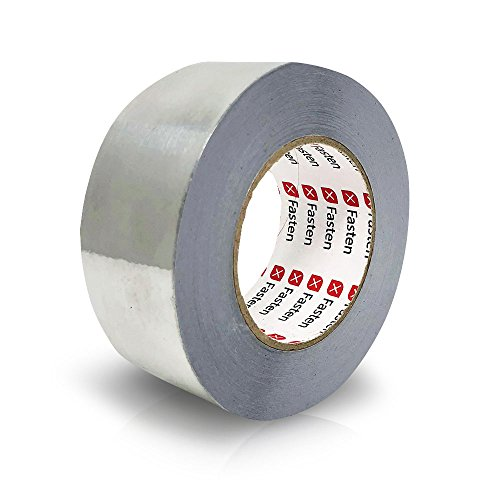 XFasten Professional Aluminum Foil Tape, 3.6 mil, 2 Inches x 55 Yards HVAC - Foil Waterproof Tape