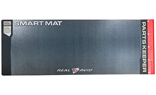 "Real Avid AVULGSM Universal Smart Mat - 43x16"", Long Gun Cleaning Mat, Red Parts Tray (Pistol 20 Gauge Grip)"