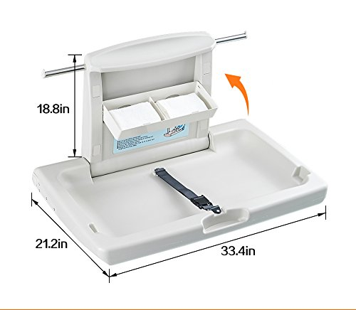 Pollock Horizontal Fold Down Commercial Baby Changing Diaper Station (white) by Pollock
