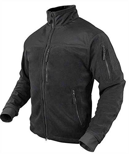 Condor Mens Panel Outerwear Fleece Jacket Black S