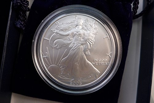 2006 W Silver Eagle Burnished Special Edition Dollar US Mint ()