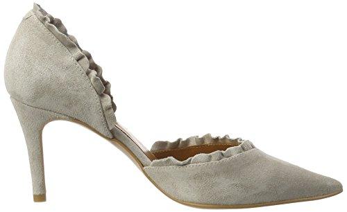 Zinda 2725 - Tacones Mujer Gris (Silver)