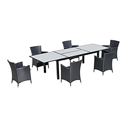 Conjunto muebles jardin de Ratan 1 mesa extensible de comedor 6 ...