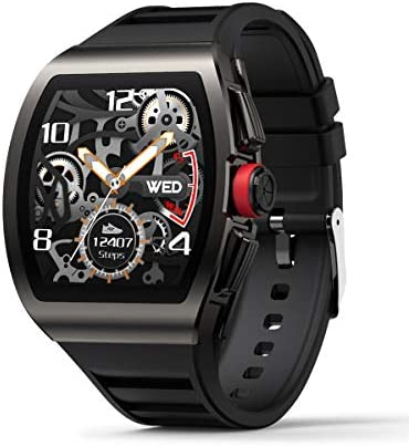 Smart Watch for Android and iOS Phones, Smart Watches for Men, Smartwatch with Heart Rate and Blood Pressure Monitor, Fitness Watch IP68 Waterproof, Step Sleep Tracker Message Reminder, Mens Watches 1