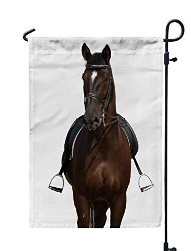 Shorping Welcome Garden Flag, 12x18Inch Horse Isolated White for Holiday and Seasonal Double-Sided Printing Yards Flags -