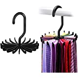 IPOW 2 Pack Updated Twirl Tie Rack Belt Hanger Holder Hook for Closet Organizer Storage