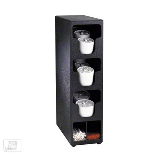 Dispense-Rite TLO-3BT Thee Section Countertop Vertical Lid and Straw Organizer