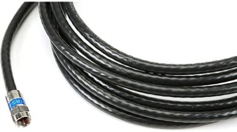 New 9 Ft-Feet-Foot-Black Rg6 Digital HD Coax Coaxial Satellite TV Cable Wire