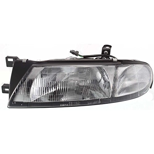 Headlight Compatible with Nissan Altima 93-97 Left Assembly Halogen W/Side Marker XE/GXE Models
