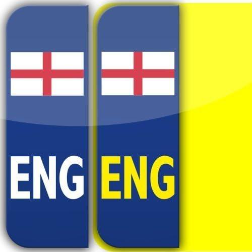 2 x Inglaterra MOTOR Placa Coche Matrícula Autoadhesivo Pegatina Vinilos GB legal St. George bandera pegatinas: Amazon.es: Coche y moto
