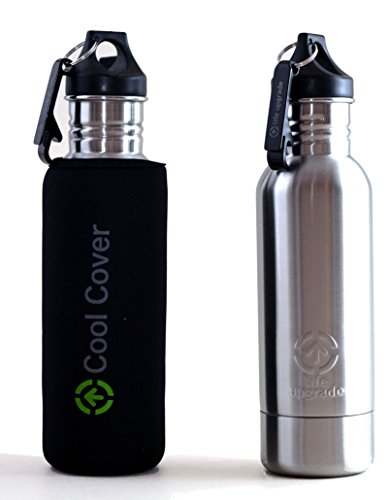 Life Upgrade Cool Cover - Stainless Steel Bottle Cover with Insulating Sleeve - Beer Bottle Insulator with Opener (Shock Top Beer Glass)