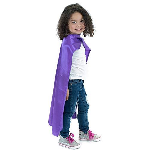 Everfan Purple Polyester Satin Superhero Cape - Kids