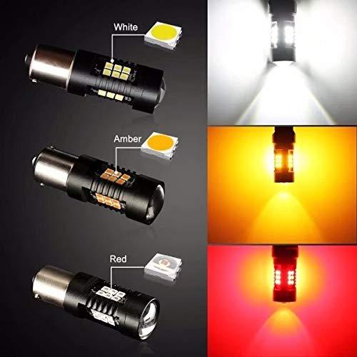WOVELOT 2PZ Py21W LED Bulb 1156 Bau15S LEDs 21 3030Smd Auto Lampadine Retromarcia Bianco R5W 12V Auto Indicatore Luminoso
