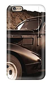 Awesome HmVLRuY32vqSjW Michael Volpe Defender Tpu Hard Case Cover For Iphone 6- Girl And Vintage Car Sepia Old Looking Photo Car by icecream design