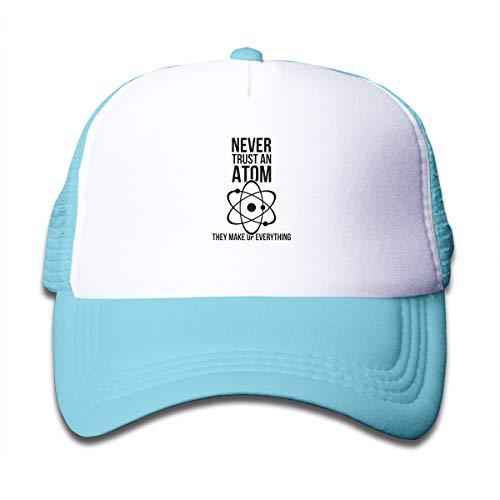 M-shop Never Trust an Atom They Make Up Everything Funny Nerd Humor Cap,Children's Trucker -